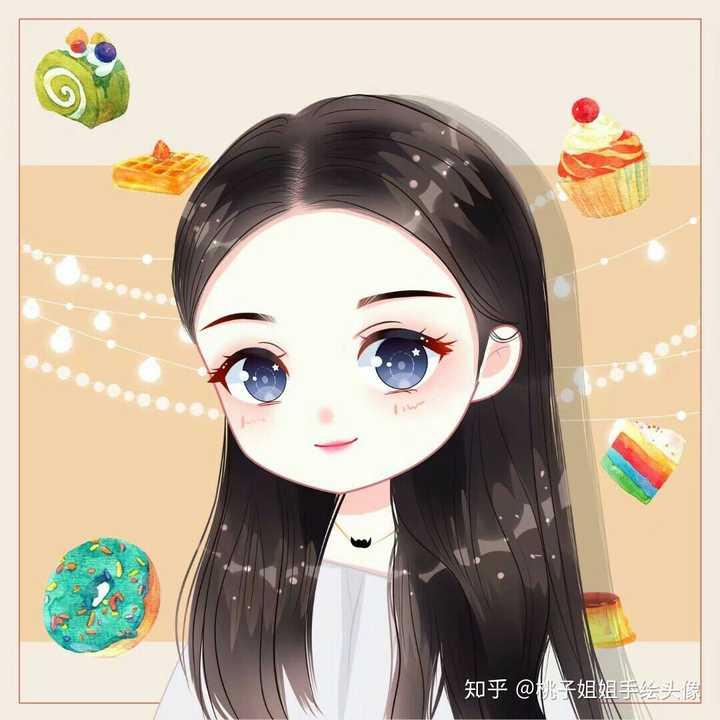 有哪些可爱的女生手绘头像?