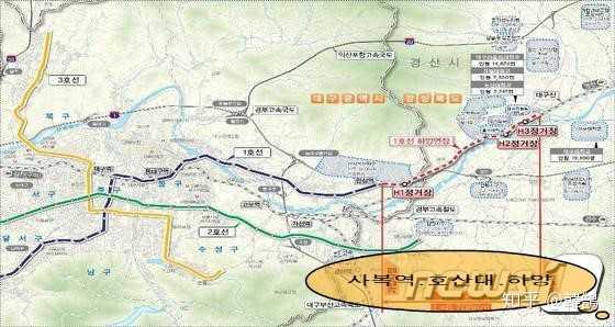 大邱地铁线路图