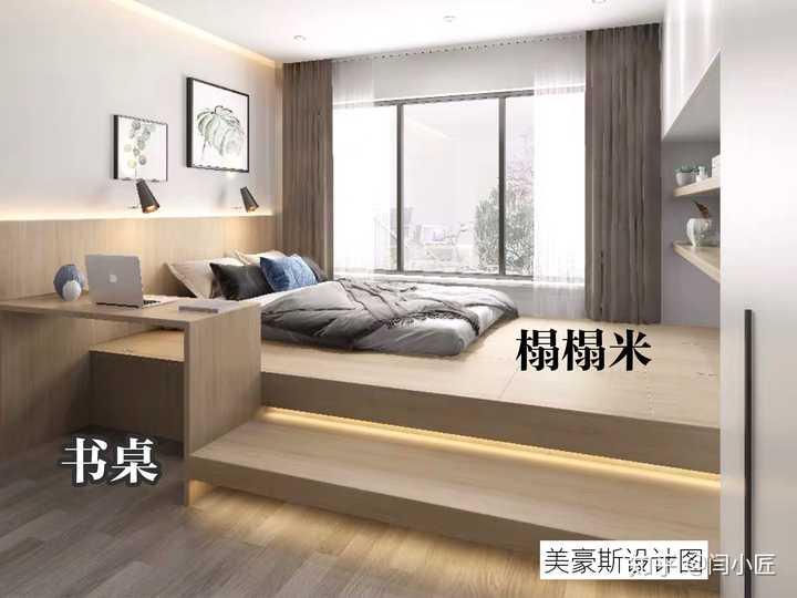 床头+床头柜+书架+衣柜,不用再买家具,一体化定制全都有了.