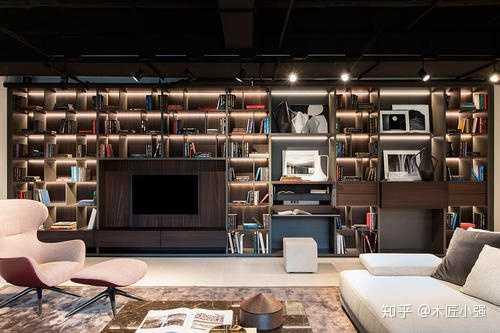 一面大书柜墙,也差不多如此.图片