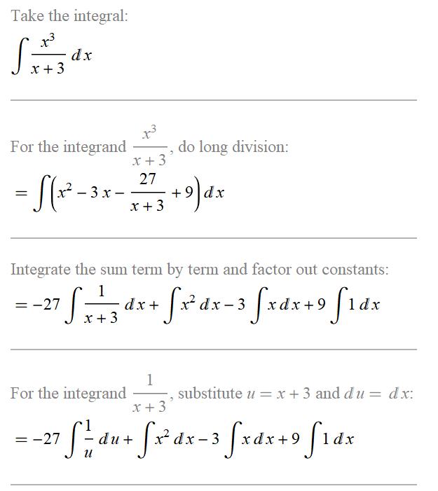 这几个不定积分题都是用的什么方法?