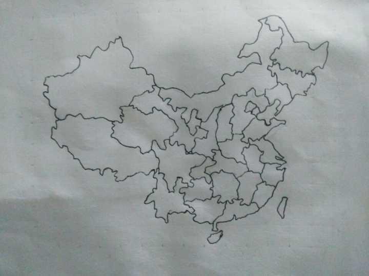 如何简笔画中国地图