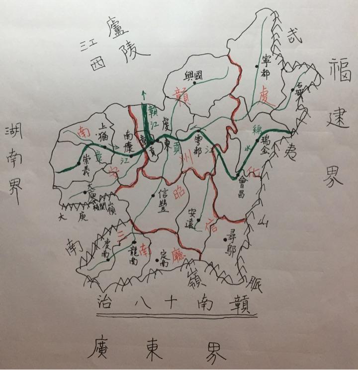 赣县各乡镇地图
