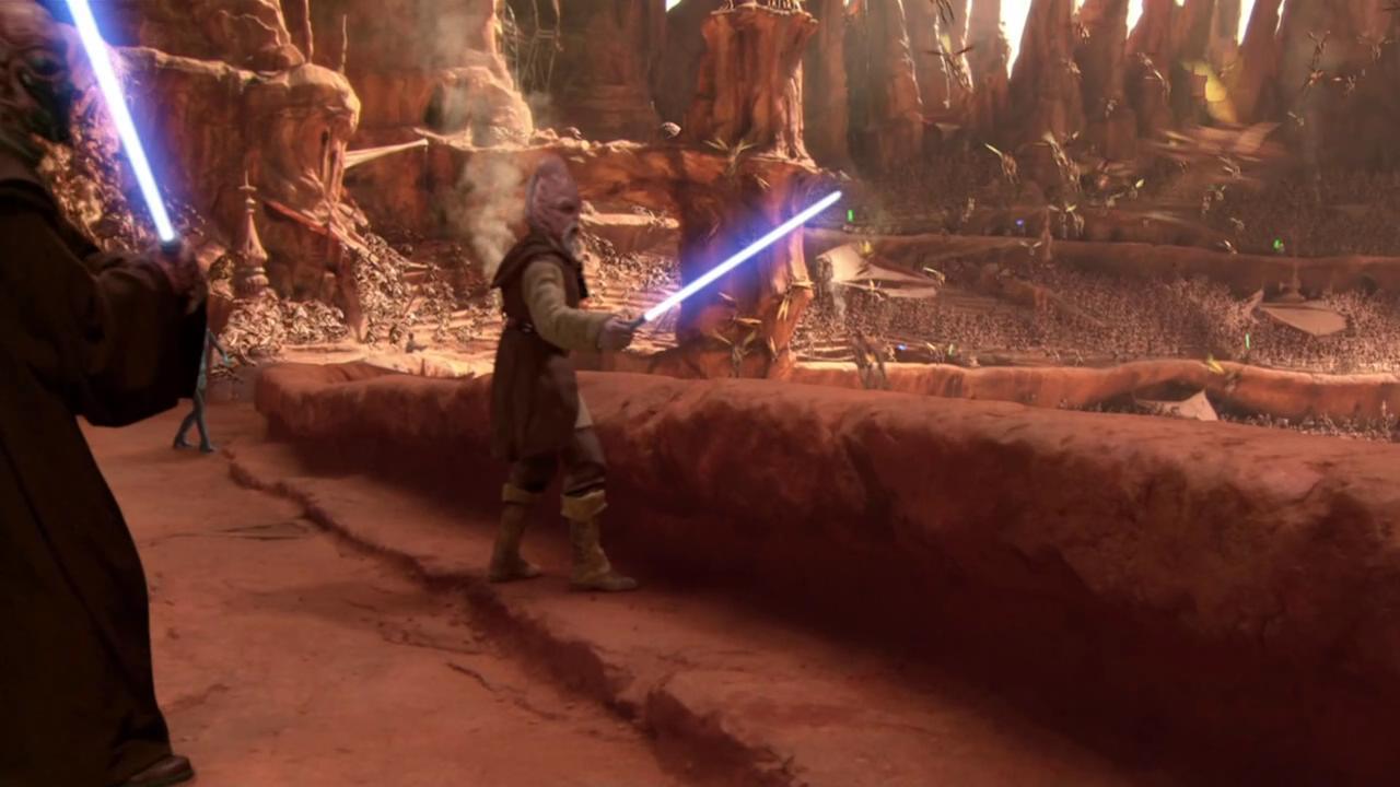 动画 电影 绝地武士/当然,就像我前面所说的,这一战也体现了四式的缺点,Qui/Gon...