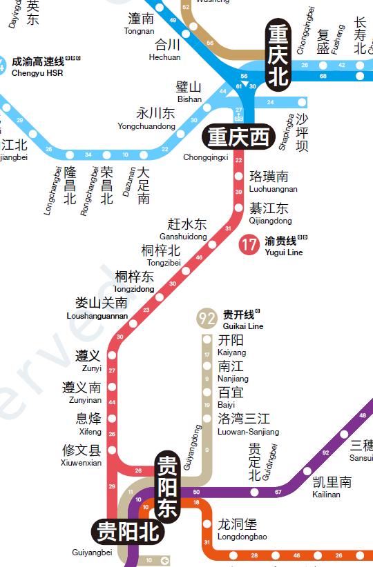 旅游神图 - 东南大学陶岸君教授的全国高铁线路图