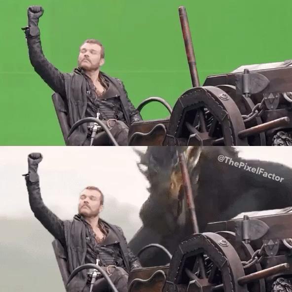 《权力的游戏》第八季第五集预告片中攸伦看向天空的表情变化暗示了图片