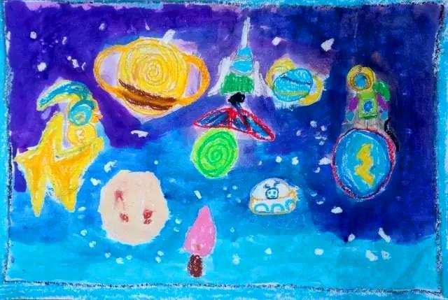 水油分离的儿童绘画课,你体验过吗?