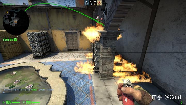 csgo地图inferno全分析(3)一两人就能做的b区爆烟图片