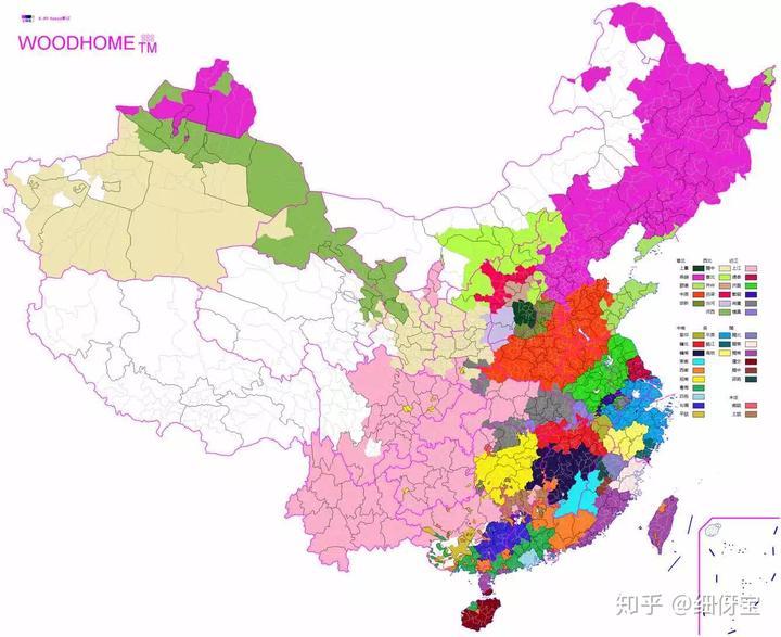 如果以语言划分行政区,如今的中国地图是怎样的?
