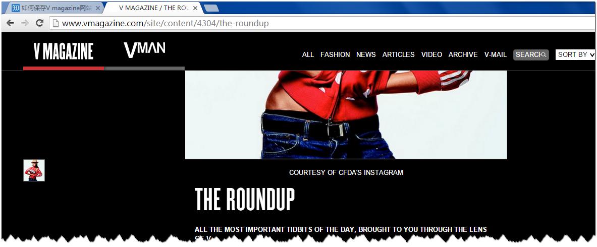 如何保存V magazine网站中的图片? - 知乎用户
