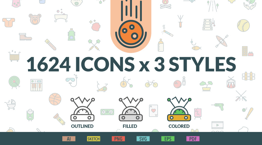 1个 icon 1毛钱,超值 icon bundle - 设计师必备