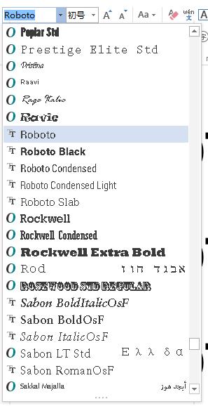 如何在Microsoft Office 中使用Roboto 字体的不同字重? - 知乎
