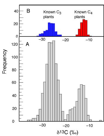 发现高浓度甲烷和在陨石中发现轻碳同位素相比,哪个更能证明火星存在生命?
