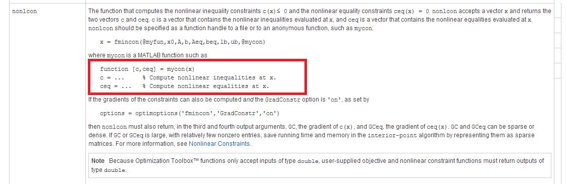 matlab做非线性规划如何把好几个约束条件一起加上去? - 知乎