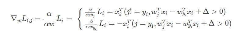 学习笔记】cs231n中assignment1中的Multiclass Support Vector