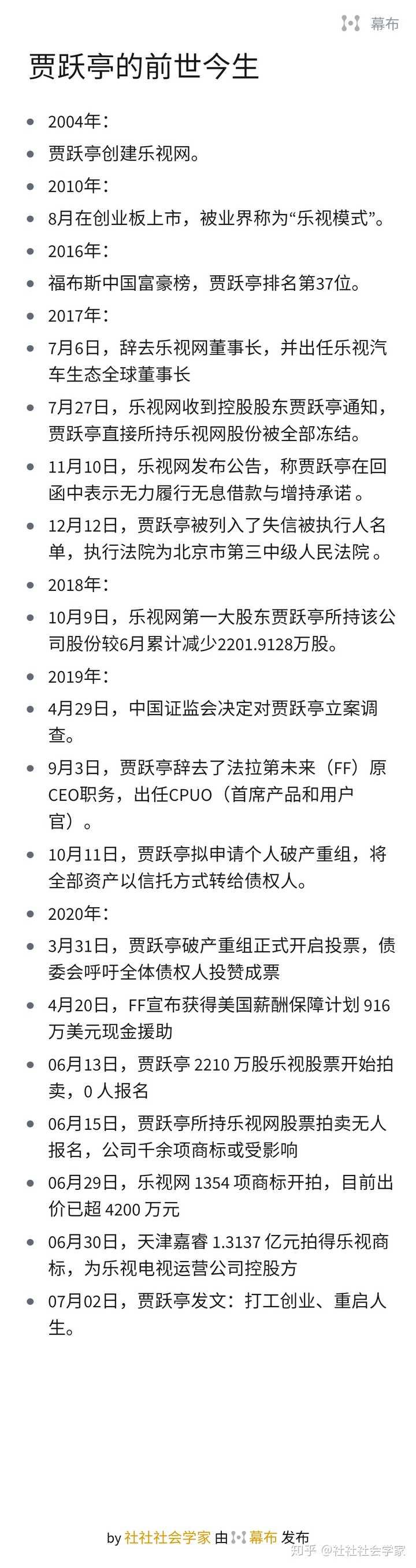 贾跃亭发致歉信称「我是乐视体系一夜崩塌的第一责任人」,乐视体系的崩塌,贾跃亭的责任有多大?