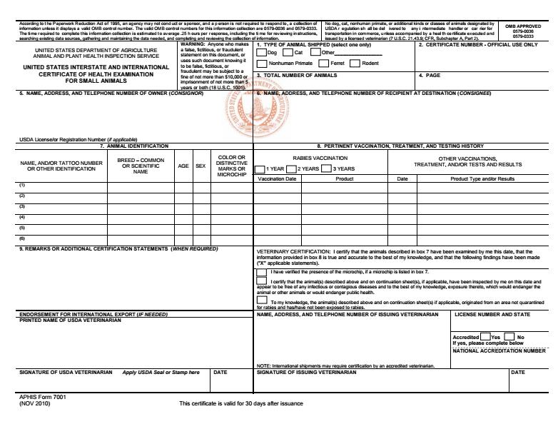 aphis form 7001 - Ordek.greenfixenergy.co