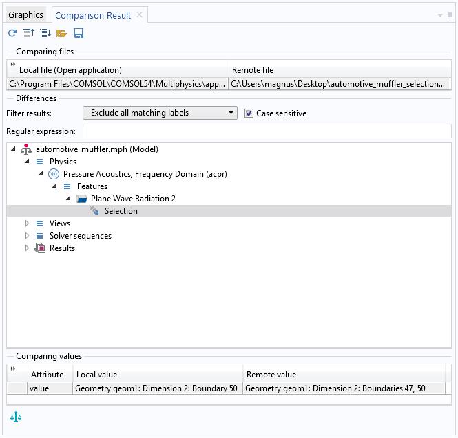 如何在 COMSOL 软件中比较两个模型文件插图11