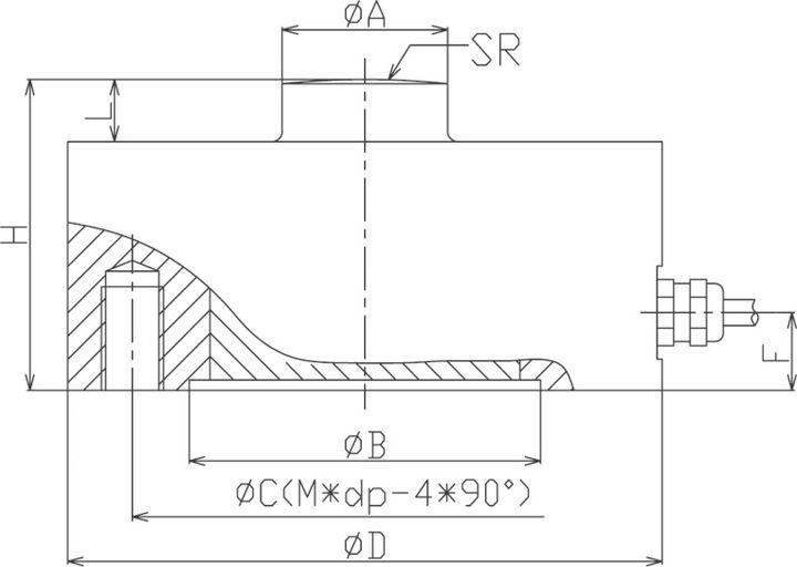 拉压称重传感器图纸