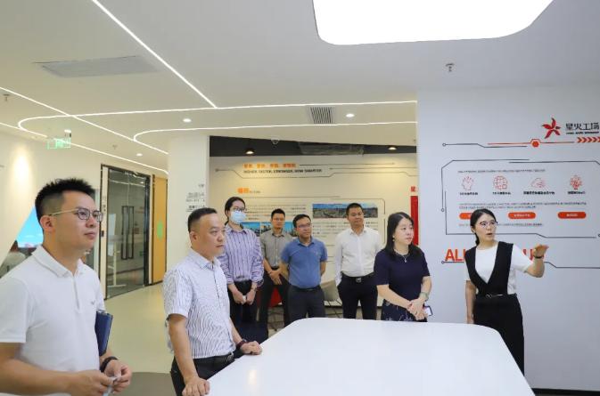 共话产业创新发展,罗湖科创局副局长张琳一行来访星火集团
