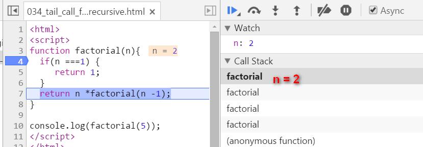 JavaScript和ABAP的尾递归