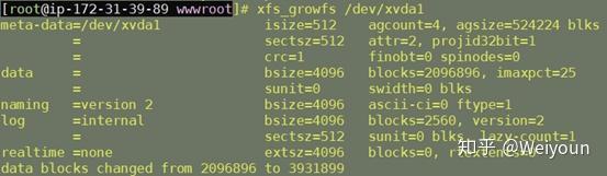 AWS增加ebs卷后扩充分区操作教程第6张-Myexplor