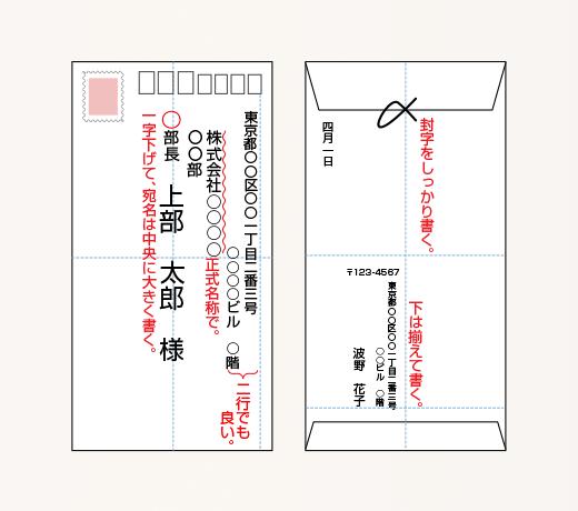 封筒 会社 宛