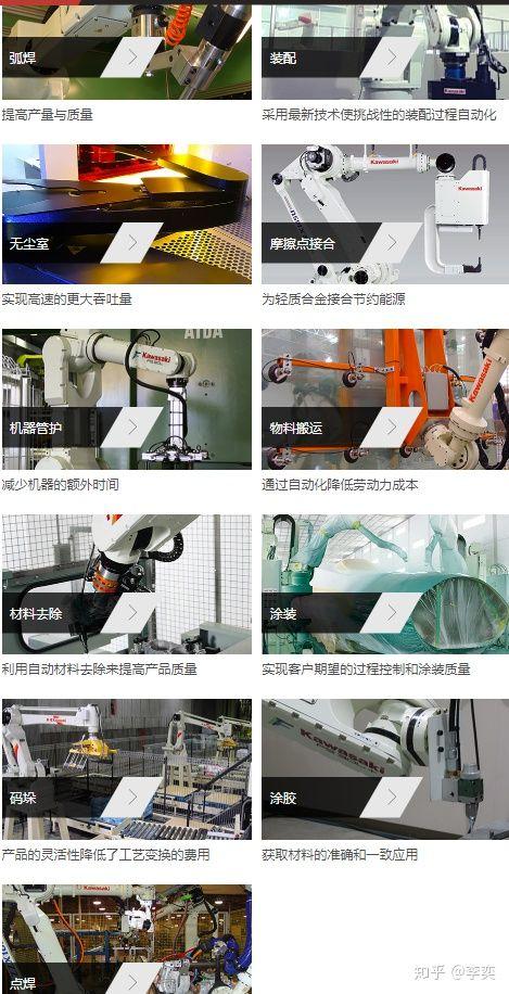 川崎工业机器人的特点优势