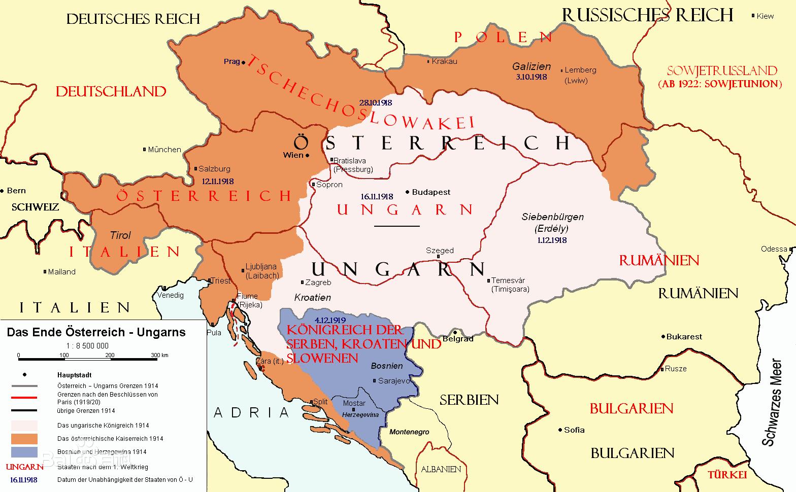 奥匈帝国的解体对中欧地区乃至全欧洲的政治格