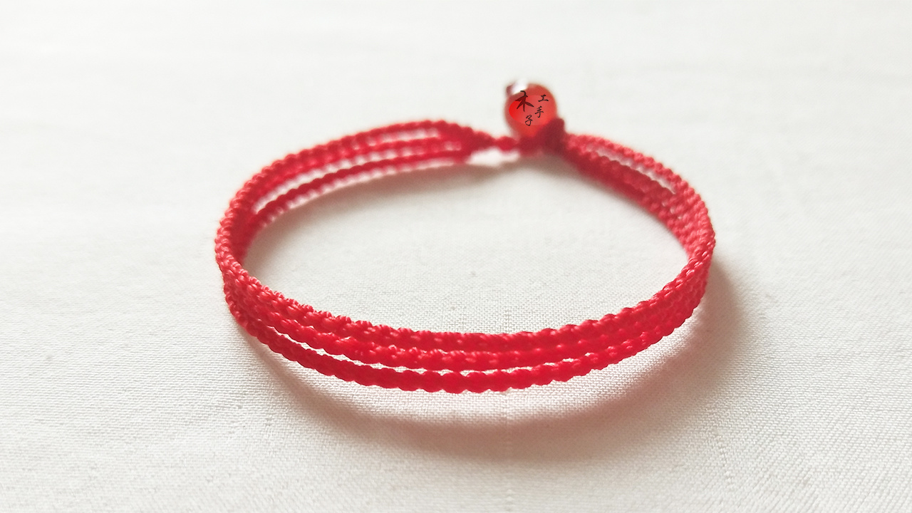 缘定三生手链_缘定三生,象征爱情的三生绳的手工红绳编织教程 - 知乎