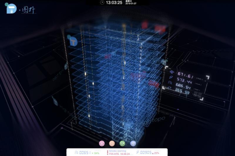 基于 HTML5 的 WebGL 楼宇自控 3D 可视化监控