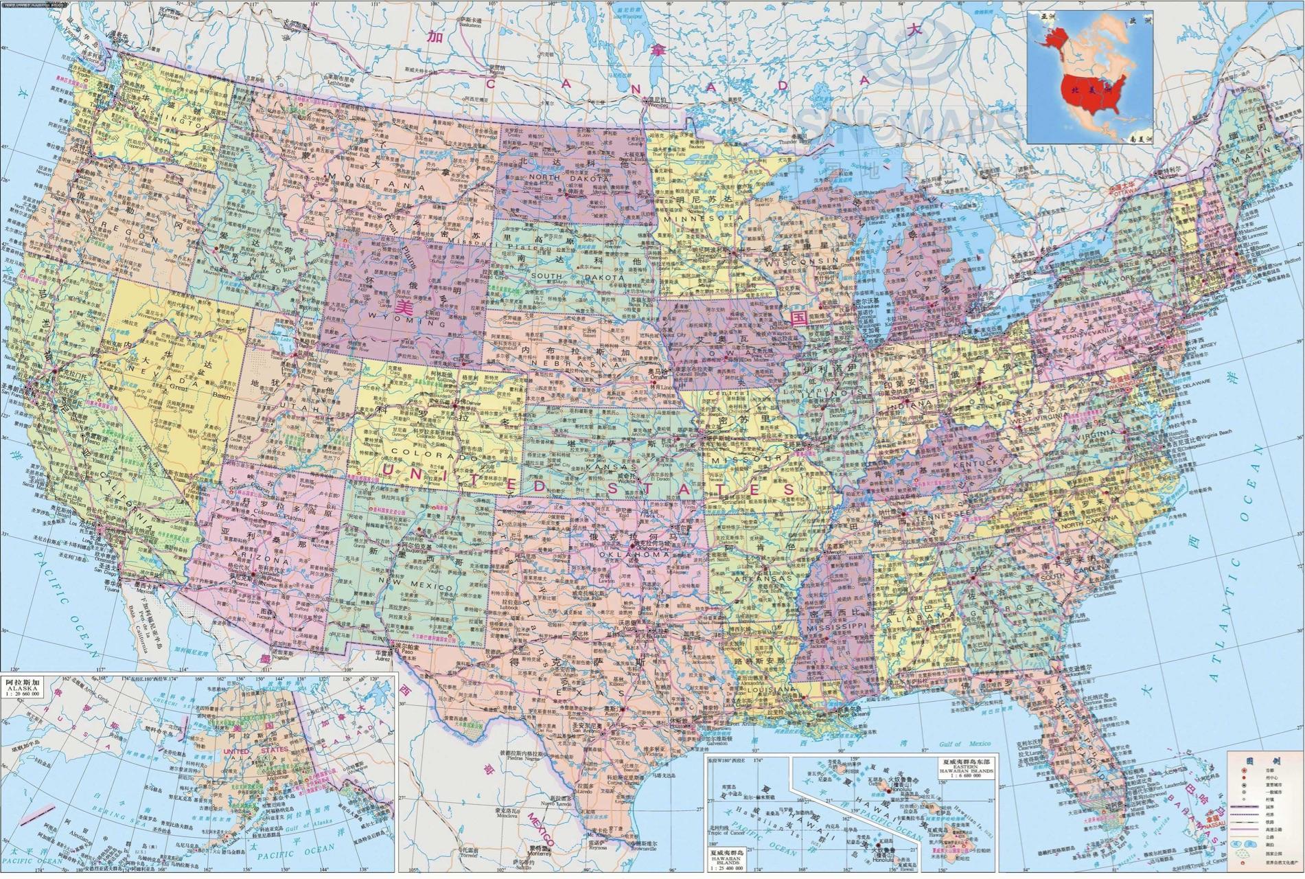 高清地图整理 | 世界地图,各国行政区划图(俄罗斯,加拿大,中国,美国,巴西,澳大利亚,德国,法国…)