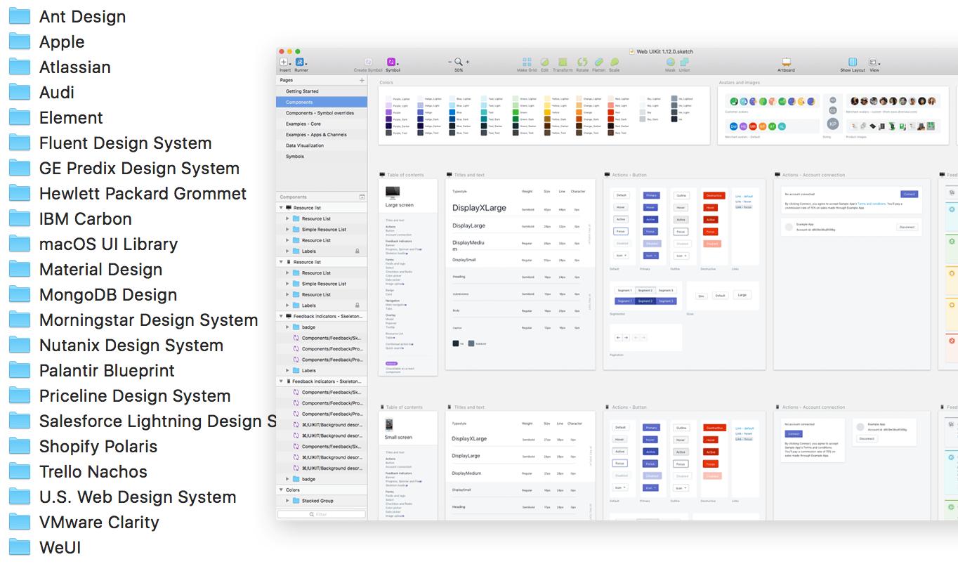 大公司如何做设计系统?25 个Sketch 组件库源文件合集下载- 知乎