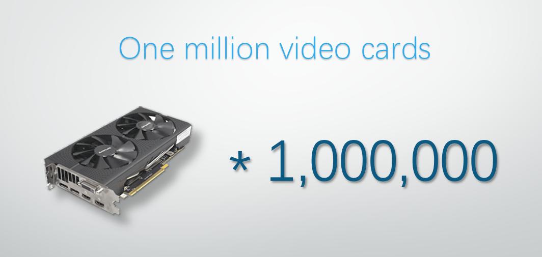百万张高端显卡的30天集结