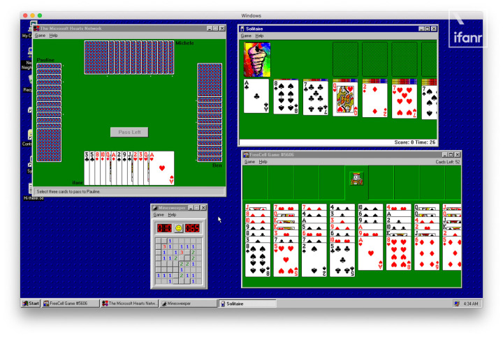 Windows 95 was made into a App  We experienced it on the