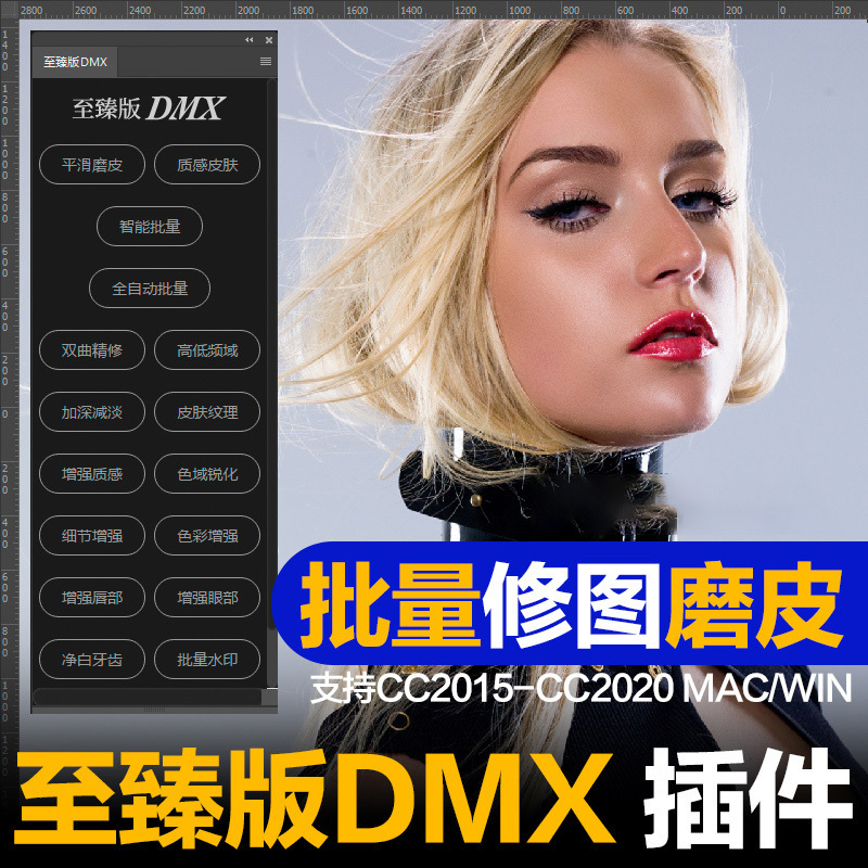 【S977】一键批量全自动人像精修质感修图滤镜至臻版DMX CC2020  电商修图