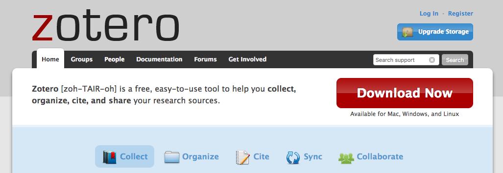使用Zotero和免费云存储管理文献