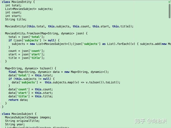 Flutter开发之JSON解析- 知乎