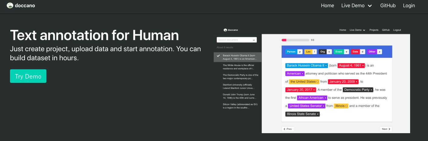 支持多语言的文本标注工具——doccano