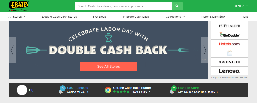 美国最好用的CashBack返利网站