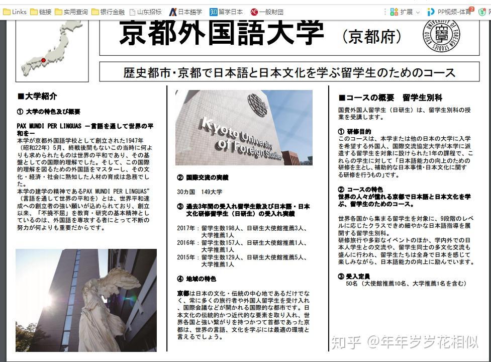京都外国语大学别科 是个怎么样的别科 具体教
