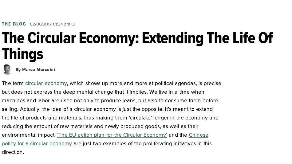 循环经济:延长事物的生命