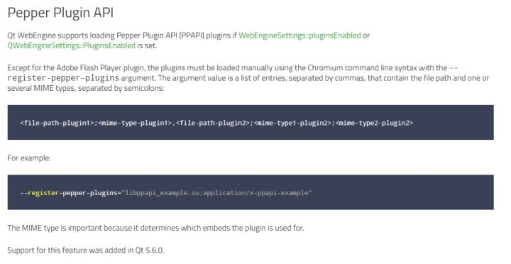 QtWebEngine怎么正确使用--register-pepper-plugins? - 知乎