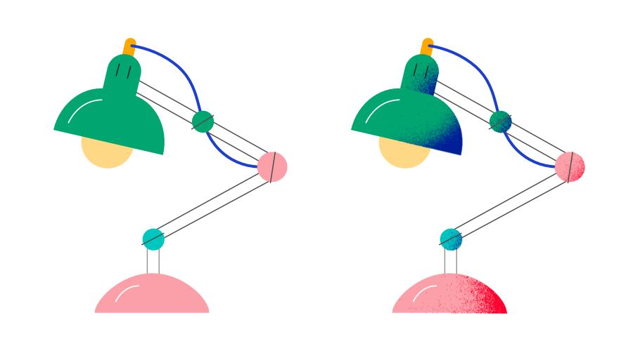 用 Affinity Designer 轻松添加扁平插画的噪点