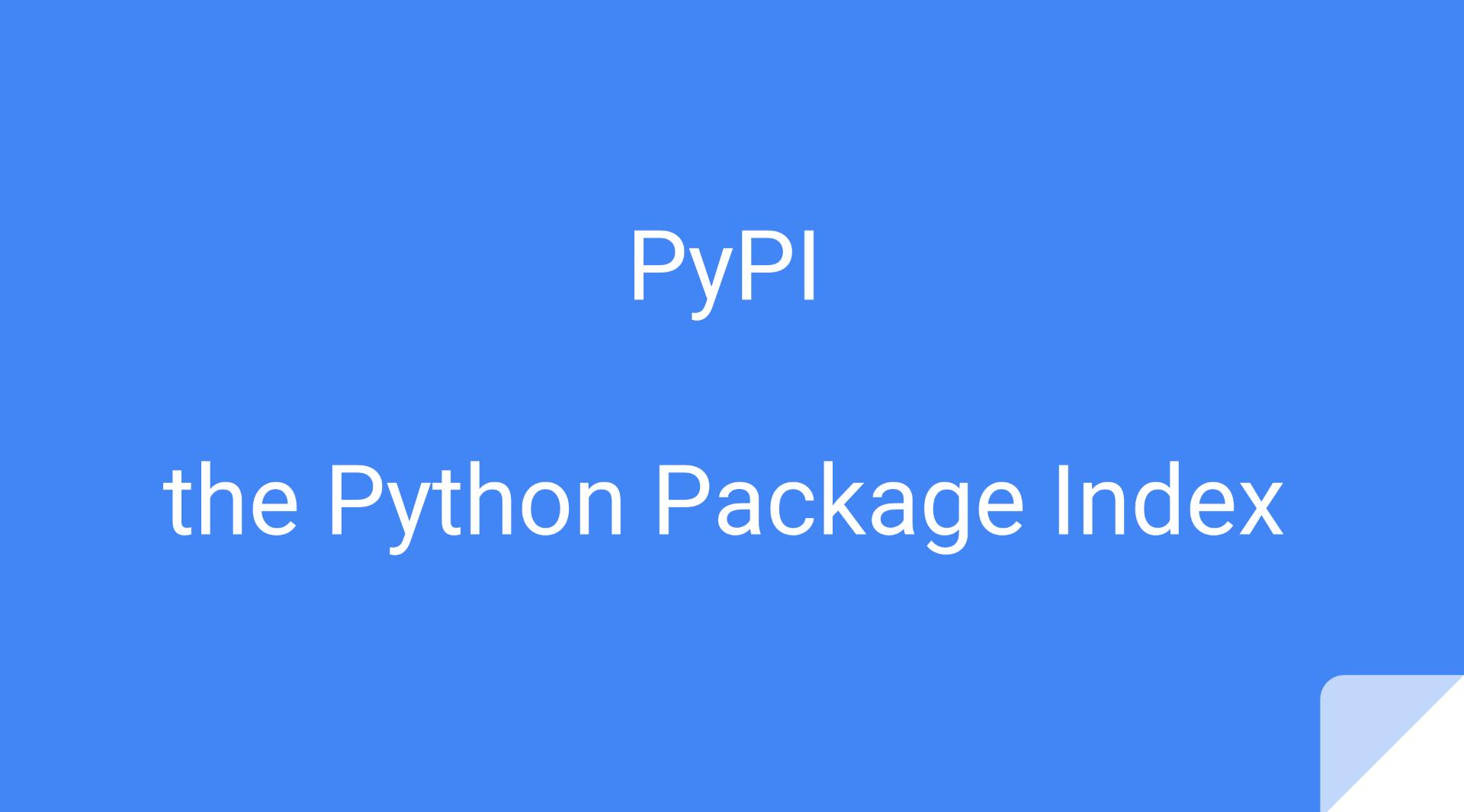 如何将自己的程序发布到 PyPI
