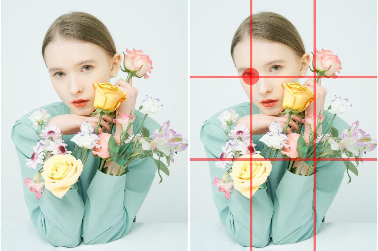 常用的摄影构图方法之三分线九宫格
