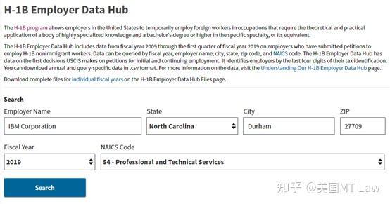 H-1B雇主数据中心上线,雇主历年H-1B申请情况都在这里- 知乎