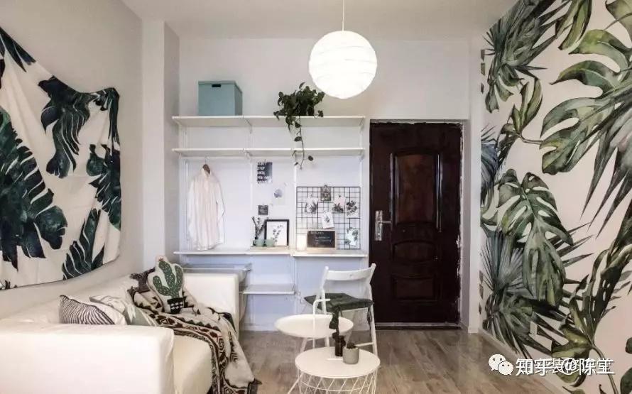 卧室墙面置物架_30平左右的单身公寓如何设计,才能把空间利用到最好? - 知乎